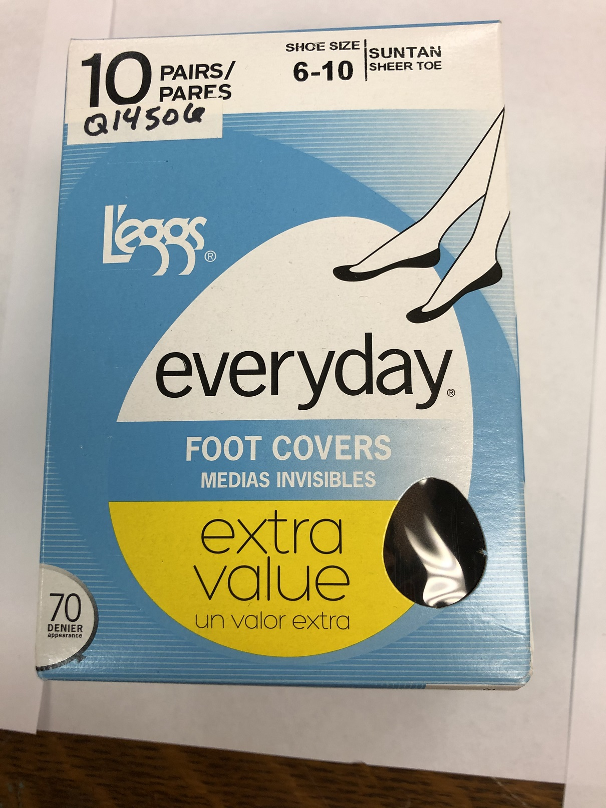 L'eggs Everyday Foot Covers /10PK women Hanes-C/O