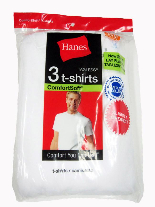 Hanes Mens Crew Neck T-Shirt IR /3PK men Hanes-IR