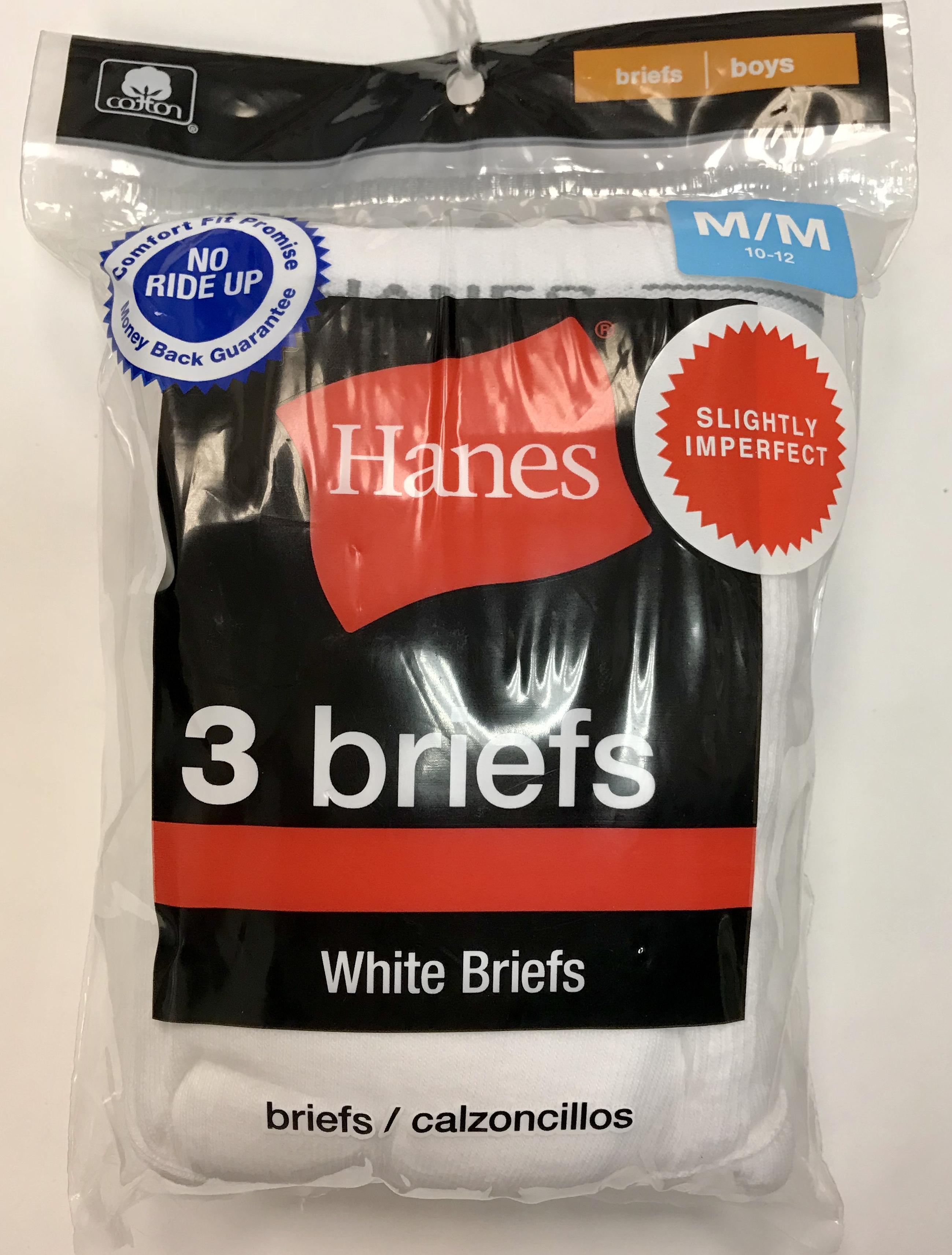 Hanes Boys White Brief IR /3PK youth Hanes-IR