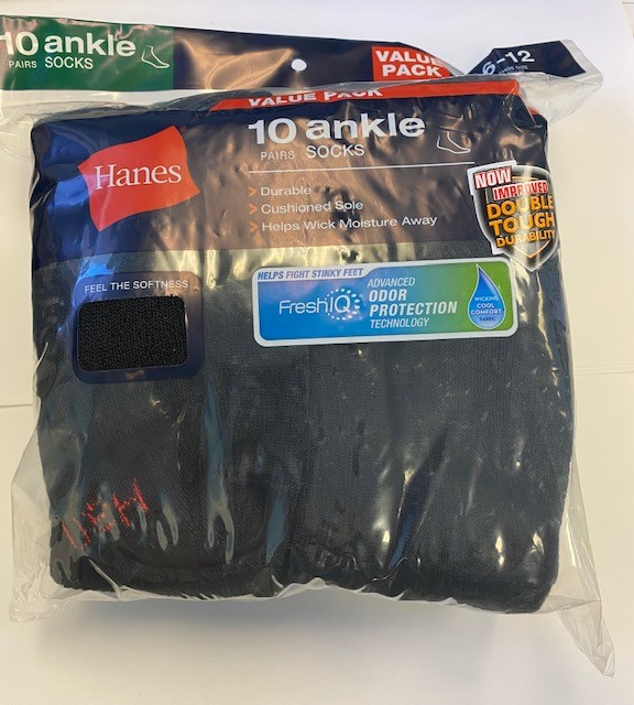 Hanes Men's Ankle Sock /10PK   men Hanes-C/O