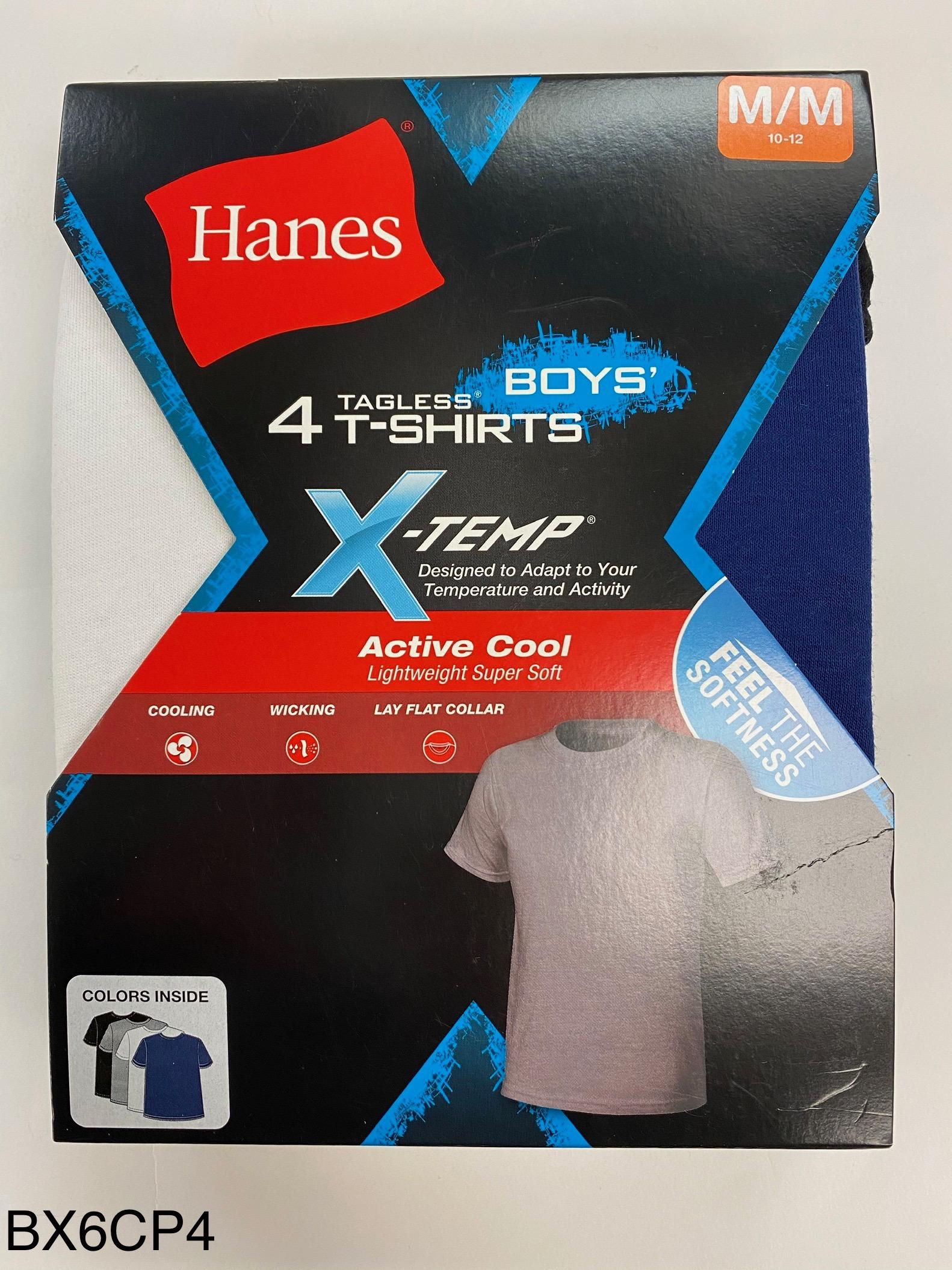 Hanes Boys X-TEMP Color T-Shirt C/O /4PK youth Hanes-C/O