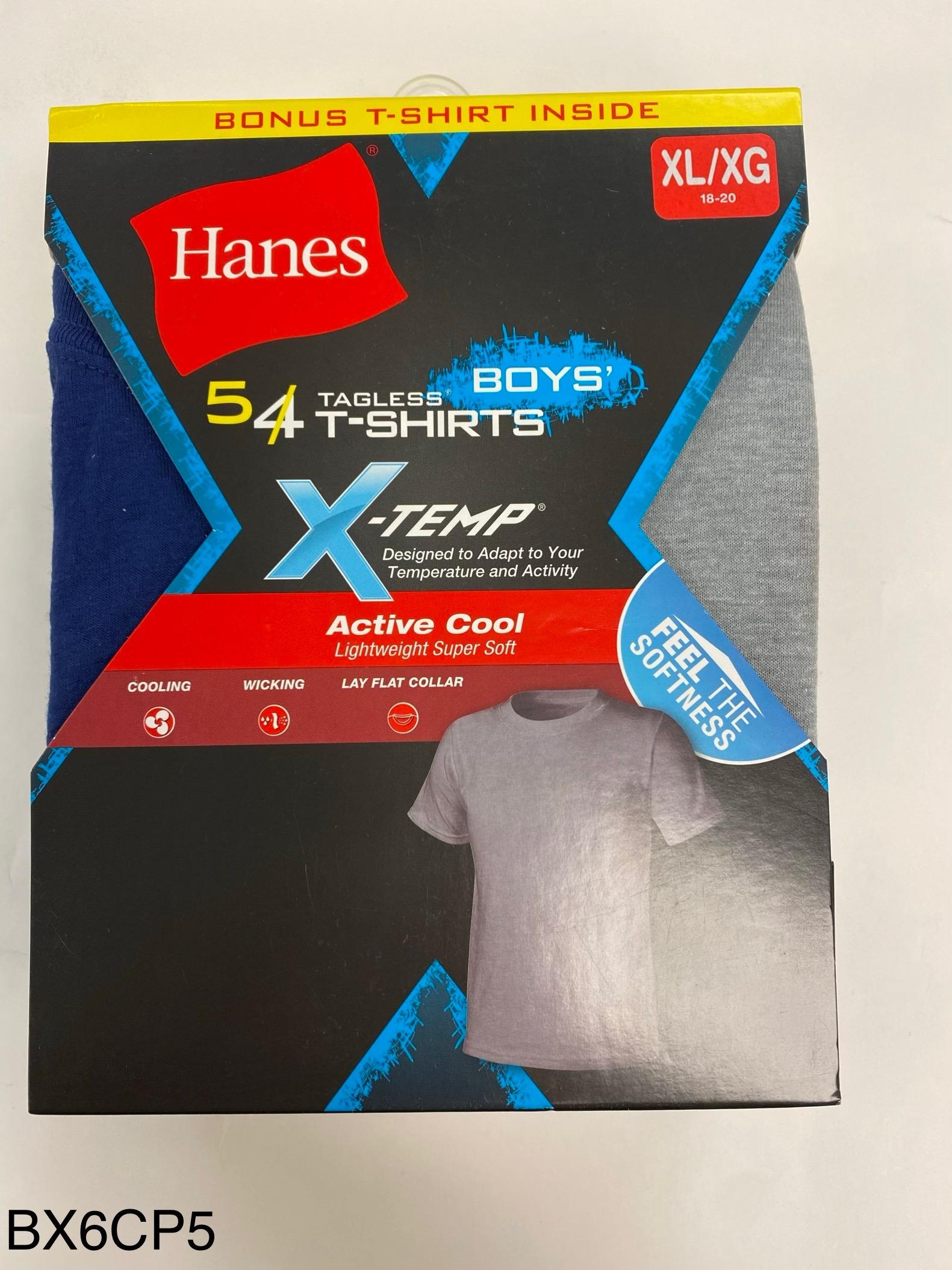 Hanes Boys X-TEMP Color T-Shirt C/O /5PK youth Hanes-C/O