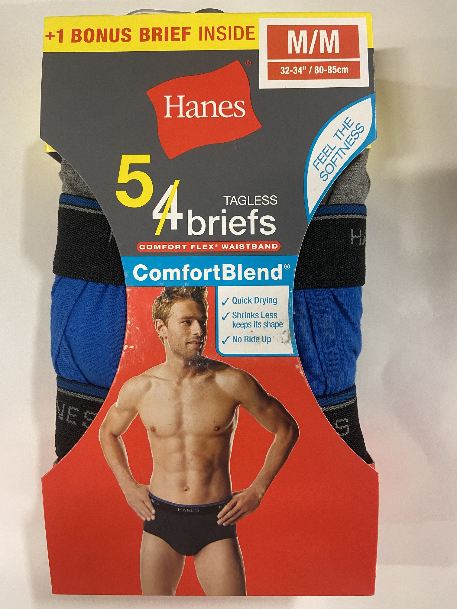 Hanes Men's Color Mid Rise Brief C/O /5PK men Hanes-C/O