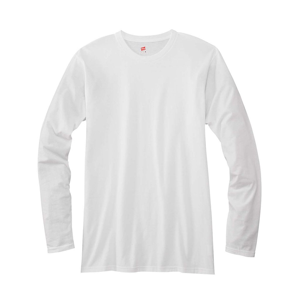 Hanes Mens Long Sleeve T-Shirt C/O /1 men Hanes-C/O