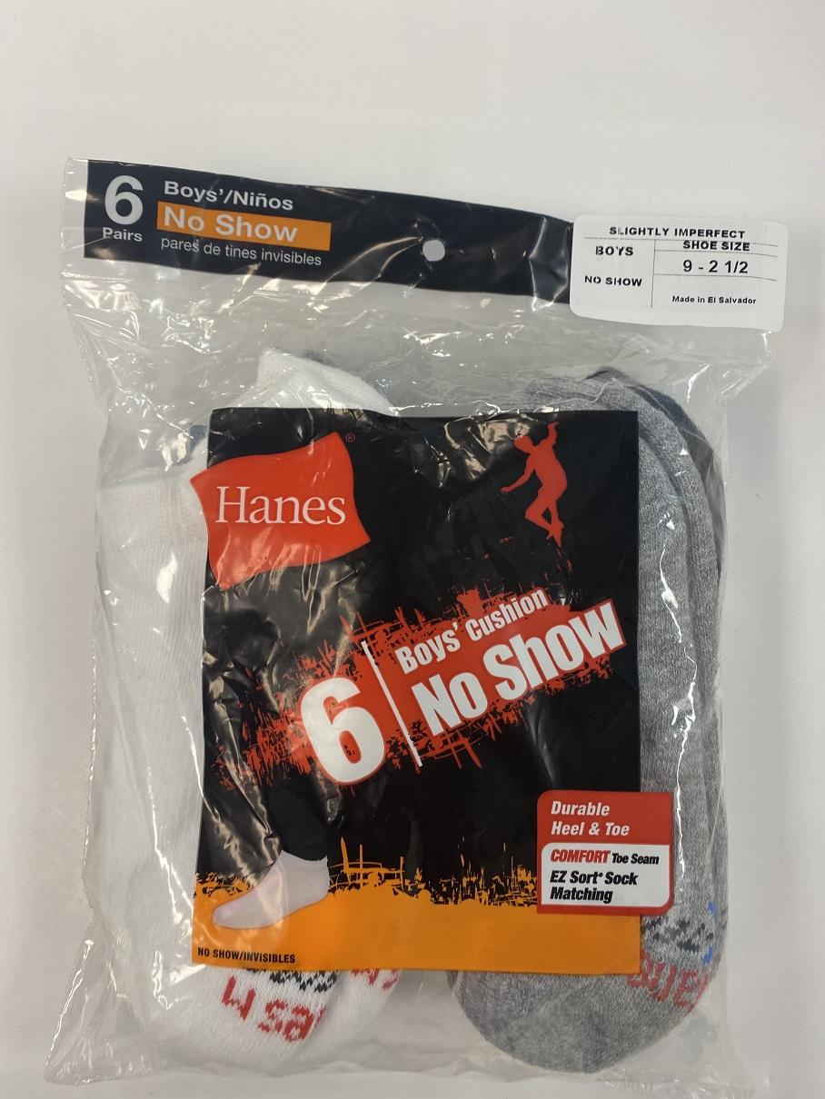 Hanes Boys No Show Socks IR /6PK youth Hanes-IR