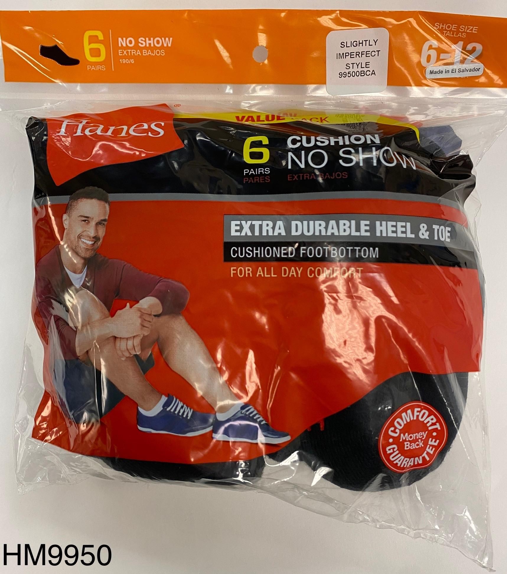 Hanes Men's No Show Socks IR /6PK men Hanes-IR