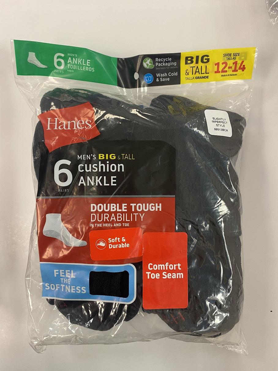 Hanes Men's Quarter/Ankle Socks IR /6PK men Hanes-IR