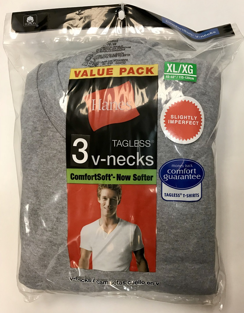 Hanes Mens V-Neck Color T-Shirt IR /3PK men Hanes-IR