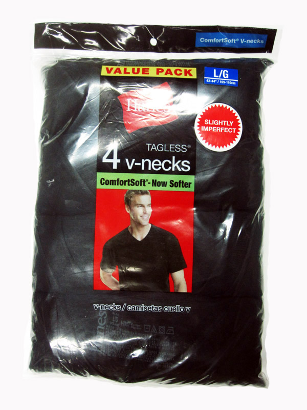 Hanes Mens V-Neck Color T-Shirt IR /4PK men Hanes-IR