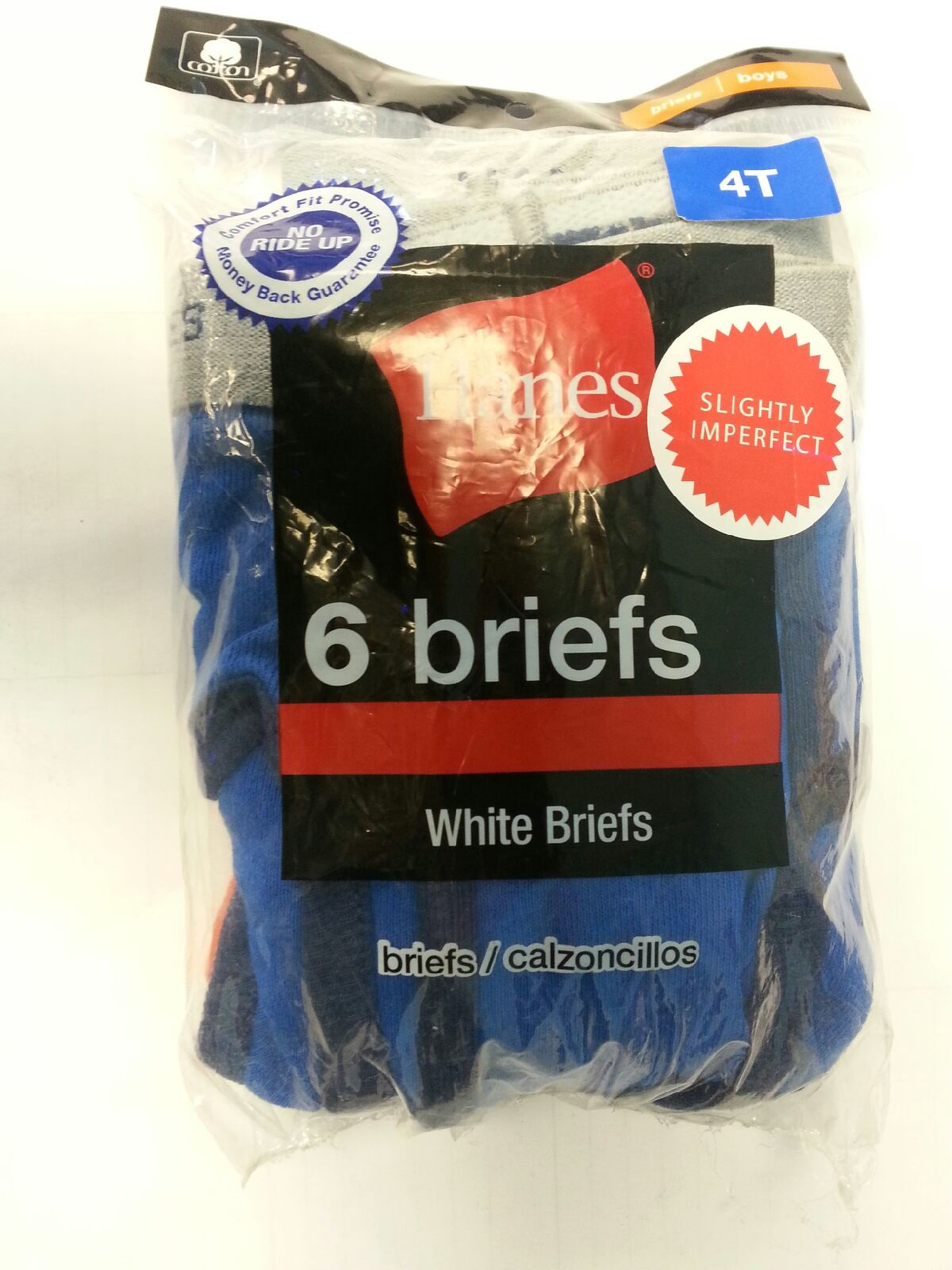 Hanes Toddler Brief Color IR /6PK youth Hanes-IR