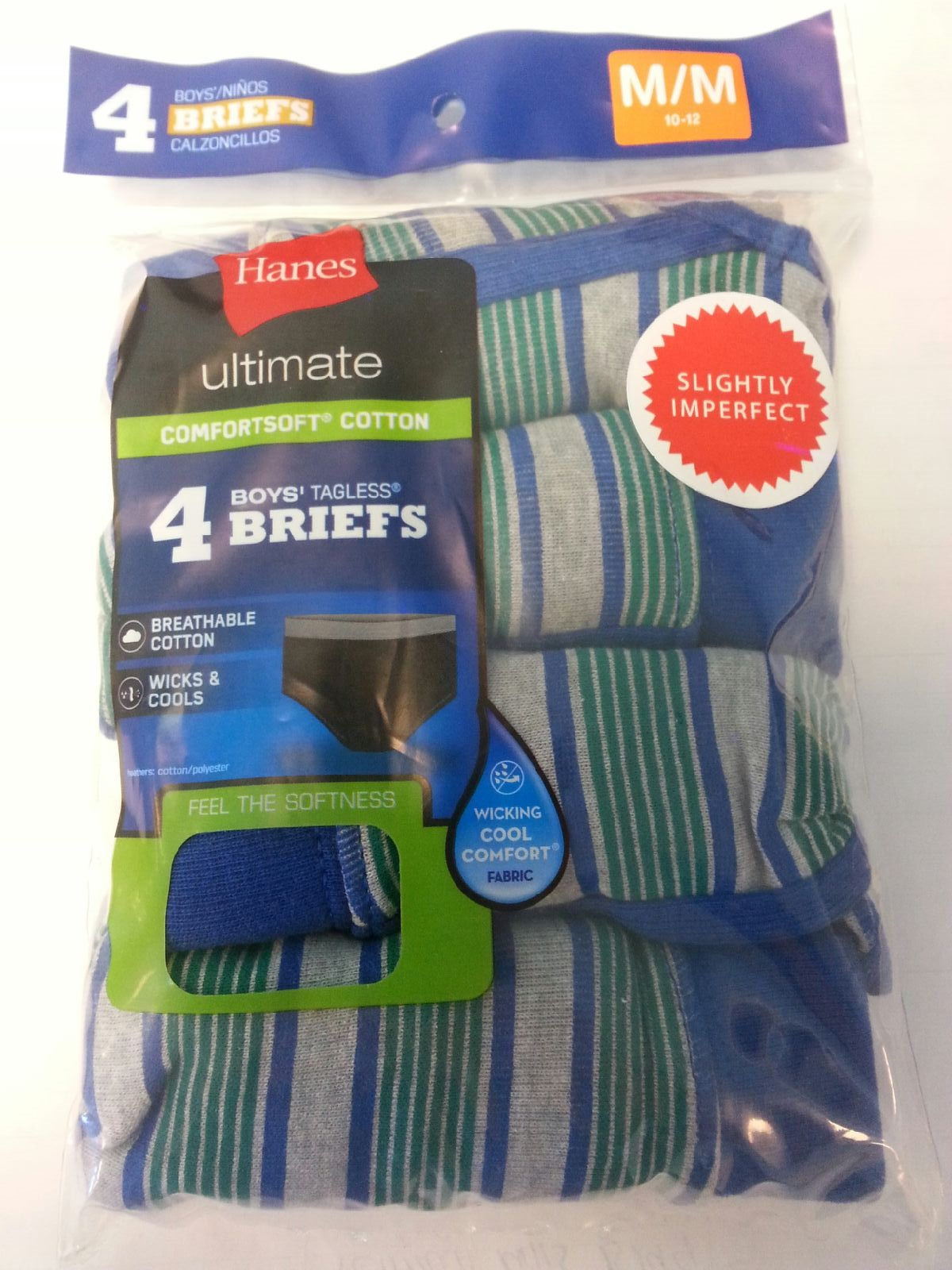 Hanes Boys Color Brief IR /4PK youth Hanes-IR