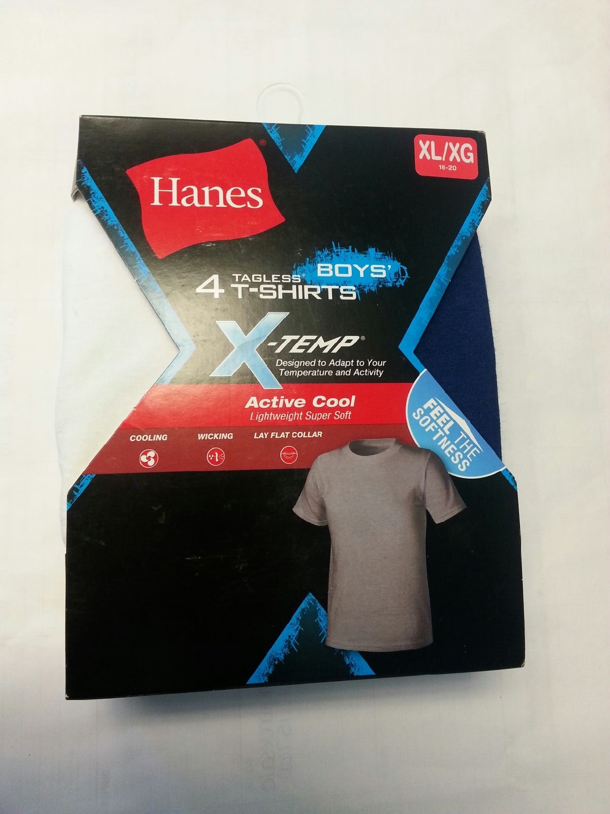 Hanes Boys X-TEMP Color T-Shirt CO/IR /4PK youth Hanes-C/O