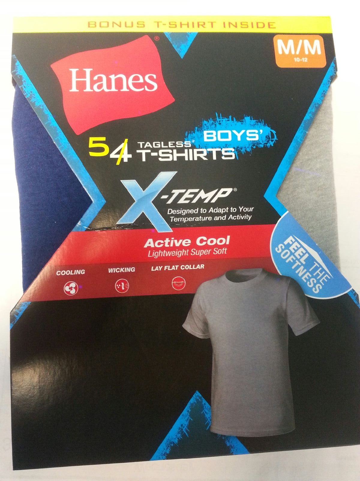 Hanes Boys X-TEMP Color T-Shirt CO/IR /5PK youth Hanes-C/O
