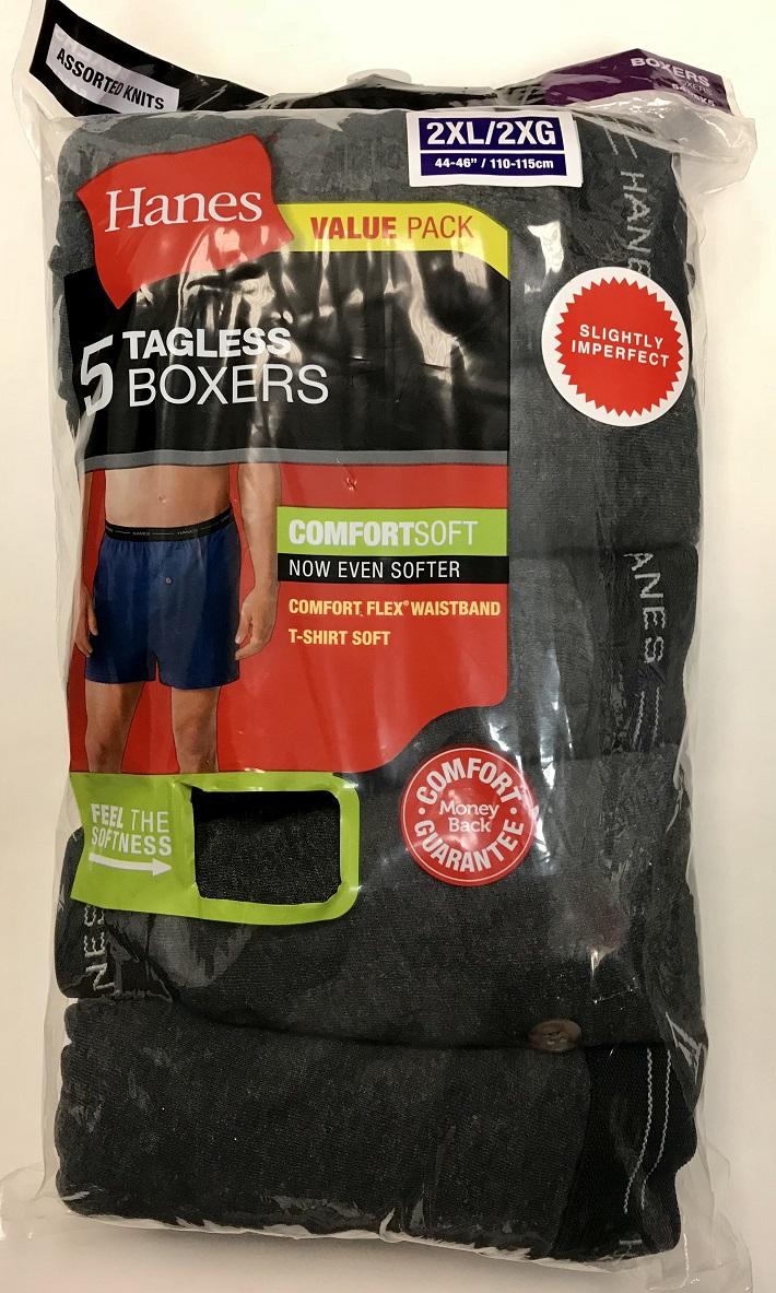 Hanes Mens Knit Boxers IR /5PK men Hanes-IR