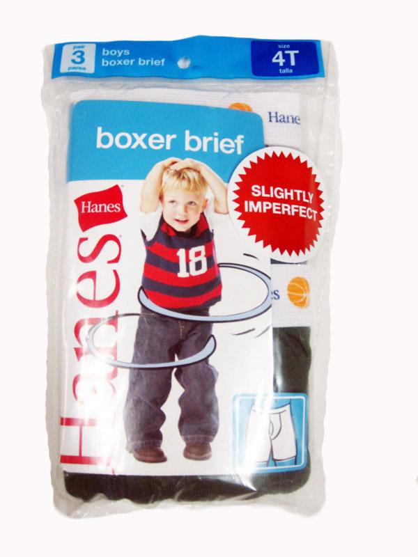 Hanes Toddler Boxer Brief IR /3PK youth Hanes-IR